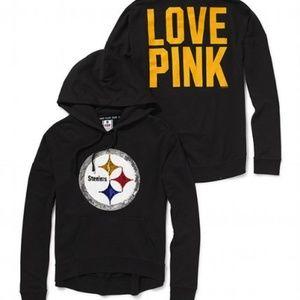 best sneakers 1d41a a53a4 Steelers sequin hoodie, Victorias Secret PINK